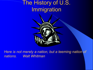 The History of US Immigration - Mayfield City School District