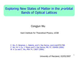 Part II. p-orbital physics in optical lattices