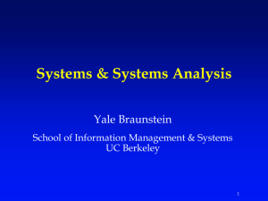 Systems & Systems Analysis