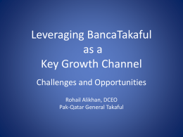 Leveraging Bacassurance as a key growth channel