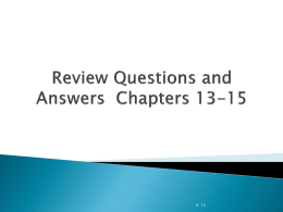 Review Q and A Ch 13-15jm