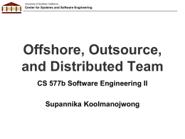 IT Offshoring - Software Engineering II