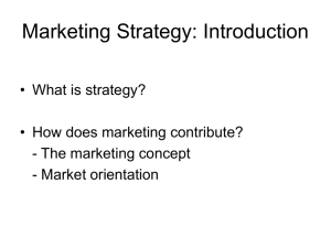 Marketing Strategy Formulation Process and Strategic Analysis