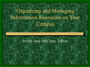 Organizing and Managing Information Resources on