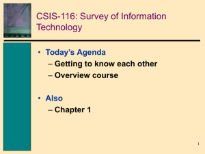 Chapter 1 Information Technology: Principles, Practices, and
