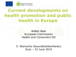The health and well being of children and young people: the EC*s