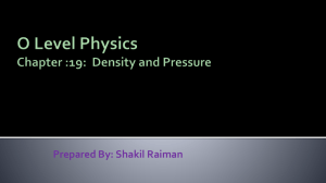 O Level Physics Chap 19 Density and Pressure