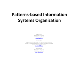 Patterns-based Information Systems Organization