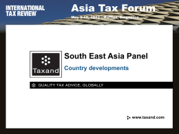 South East Asia Panel