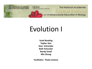 Evidence for Mechanisms of Evolution (PowerPoint) Southeast 2012