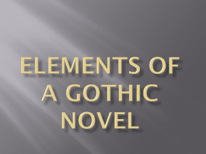 Elements of a Gothic Novel Powerpoint