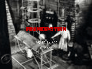 Frankenstein - Dilback English 12