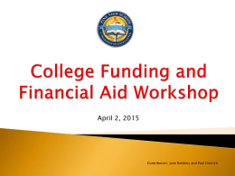 Things You Should Know About Financing College