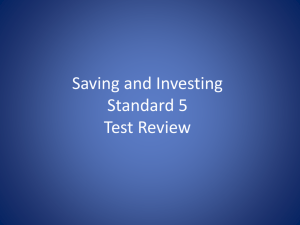Saving and Investing Test Review