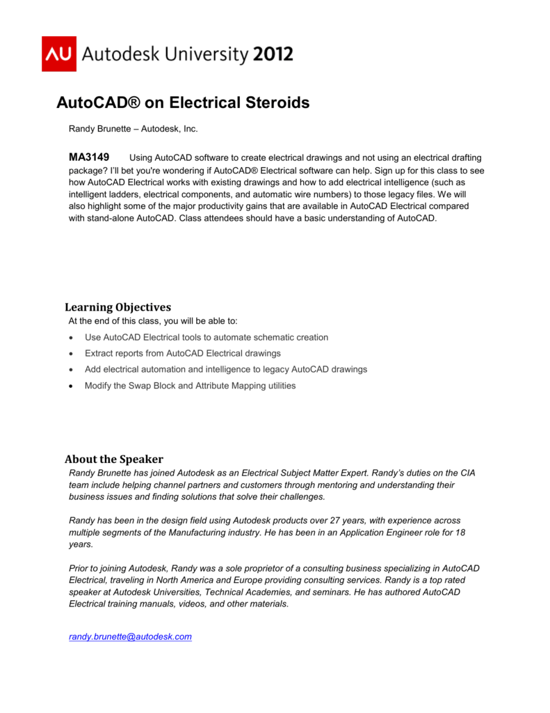 Editing non-Electrical Drawings with AutoCAD Electrical