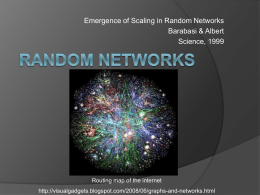 Random networks - Weizmann Institute of Science