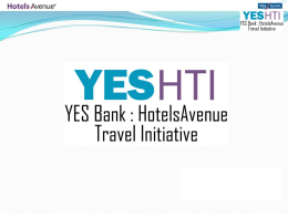 Yes Bank Travel Initiative
