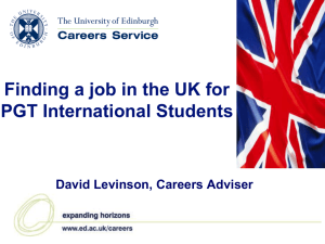 Finding a job in the UK for PGT International Students September
