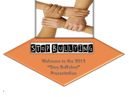 Bullying and - Judy Valeski