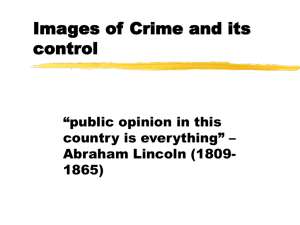 Images of Crime and its control