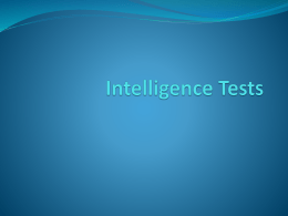 Intelligence Tests