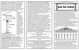 Ancient Greek Architecture Handout