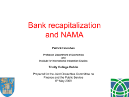Bank Recapitalization and NAMA