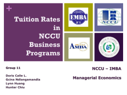 Managerial Economics Different Tuition Rates in NCCU