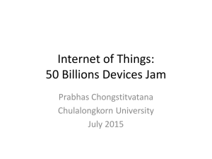Internet of Things: 50 Billions devices jam