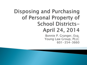 Disposing and Purchasing of Personal Property of School