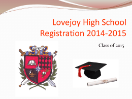 Required - Lovejoy High School