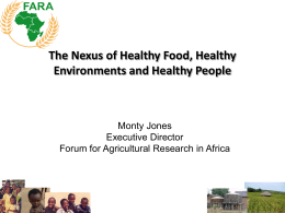 The nexus of Healthy Food, Healthy Environments and Healthy People