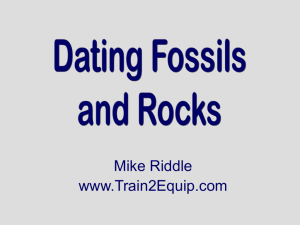 absolute dating uses ______ to estimate how old a fossil is quizlet