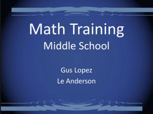 February Math Training
