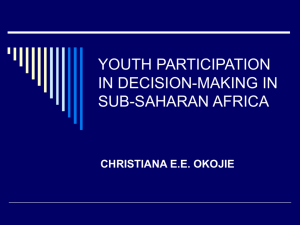 youth participation in decision-making in sub