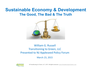 Sustainable Economy & Development