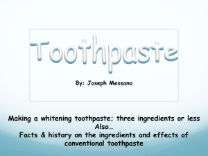 Making Toothpaste