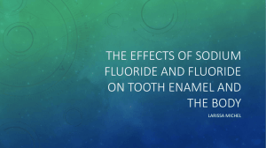 Calcium carbonate and its effects on tooth enamel over time