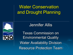 Water Conservation and Drought Planning
