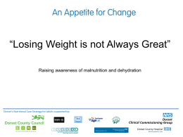 'Losing Weight is Not Always Great' (powerpoint