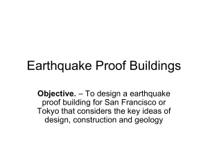 Design a earthquake proof building