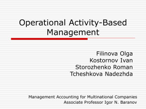 Operational Activity