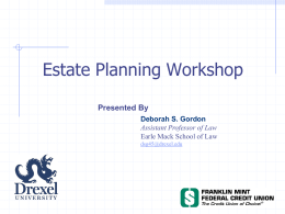 A typical estate plan