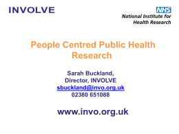 Some examples of public involvement in public health research