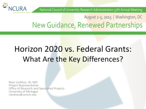 Horizon 2020 vs. Federal Grants: What Are the Key