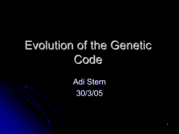 Evolution of the Genetic Codes