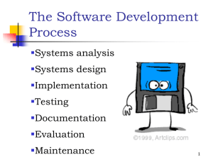 Software Development Notes