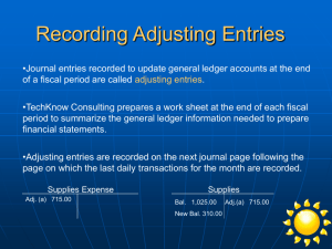 Recording Adjusting Entries