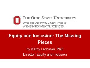 Equity and Inclusion-The Missing Pieces?