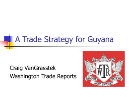 A Trade Strategy for Guyana - Caribbean Trade Reference Centre